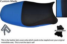 BLUE & BLACK CUSTOM 00-04 FITS SUZUKI BANDIT GSF 600 LEATHER SEAT COVER