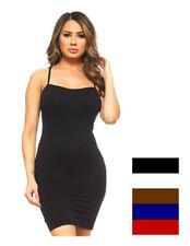 Womens Plus Cami Bodycon Slip Tank Top Mini Dress Liner One Size Fit (S,M,L)!