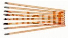 Kohleelektroden 6,5 x 305 spitz pointed bis 400A verkupfert für Fugenhobler