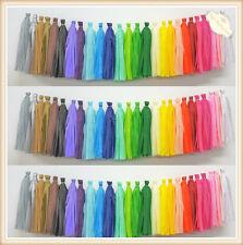 5 PCS Tissue Paper Tassels Garlands Bunting Wedding Party Lantern Pompoms Decor
