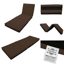 4 Inch Memory Foam Firm Mattress Trifolding Bed Pad Floor Mat Brown/Black 4 Size