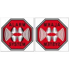 Aufkleber Sticker 5cm Alarm System Auto Haus gespiegelt f. innen Fenster Scheibe