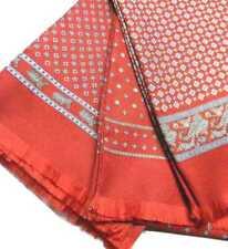 SCIARPA elegante rosso bordeaux seta per uomo sciarpe tubolari Made in Italy
