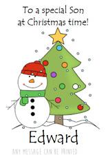 Cartolina Saluti personalizzata Pupazzo di Neve Babbo Natale Babbo Natale Natale nipote