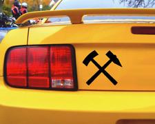 Aufkleber Schlägel und Eisen Sticker Glück auf Autoaufkleber Motorradaufkleber
