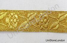 Braid Rose Lace Gold Mylar 19mm Rank Marking Trim R1057