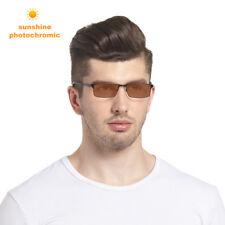 Fashion Men's Full Rim Reading Glasses +1.00~ +4.00 Photochromic Lens Sunglasses