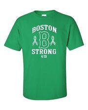 Boston B Strong Marathon 4/15/13 Men's Green Tee Shirt