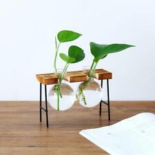 Iron Frame Wood Shelf Plant Stand Ladder Storage Indoor Garden Display Stand
