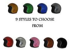 2017 Bobber Style METAL FLAKE 3/4 Helmet D.O.T--9 COLORS TO CHOOSE by Daytona