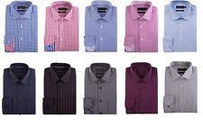 """DOUBLE TWO Da Uomo Puro Cotone Easy Care LS Camicie, Colletto 15"""" -23"""", più opzioni"""