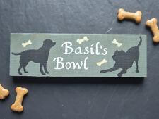 Cane in legno Segno personalizzato Cucciolo Kennel NOME PLACCA letto Cibo Ciotola Labrador