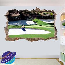 GOLF BUNKER Shot da Golf Art Wall Sticker Stanza Ufficio Arredamento Decalcomania Murale ZQ2