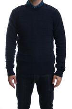 Edwin Standard rayure fine laine agneau tricot en bleu marine MARNE SOLDE