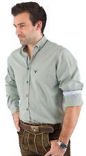 Trachtenhemd langarm Pure C22606-11299 fashion fit grün gestreift