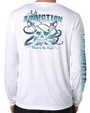 Salt Addiction Saltwater life microfiber fishing long sleeve  t shirt 50+ uv