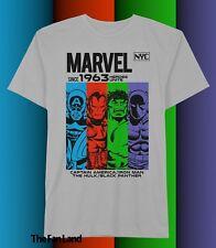 New Marvel Comics Avengers NYC 1963 Mens Vintage T-Shirt