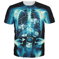 New Fashion Women/Men Funny X-ray of Gamer 3D Print Casual T-Shirt Short Sleeve
