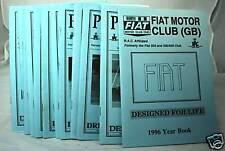 Parliamo - Fiat Motor Club (GB) Magazine -1996 Part Set