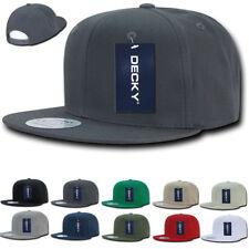 DECKY Cotton Retro Flat Bill 6 Panel Snapback Baseball Caps Hats