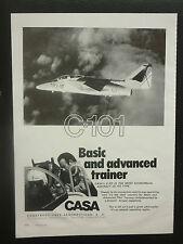 6/1981 PUB AVION CASA C-101 TRAINER AIRCRAFT ORIGINAL AD