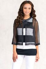 NWT $287 Italian Designer TWO TOPS SET 100% SILK COAT Size XS 6 8 M 10 12
