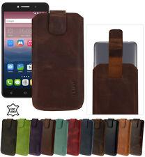 Alcatel One Touch Pixi 4 (8050D) Hülle Leder Tasche Suncase Schutz Etui Cover
