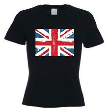 Union Jack  Ladies T-Shirt - Holidays Football GB UK Athletics - Sizes S to XL