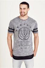 True Religion Men's Mesh Inset t-shirt Concrete Grey MC885C008