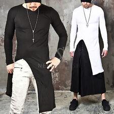 NewStylish tops Avant-Garde Asymmetric Unbalance Long Slim Tee Shirts