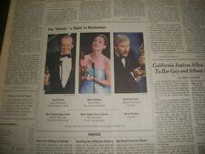 1998 MAR 24 NEW YORK TIMES NEWSPAPER- ACADEMY AWARDS- NICHOLSON TITANIC- NP 1176