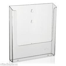DIN A4 Prospekthalter / Wandprospekthalter von VITAdisplays® für die Wandmontage