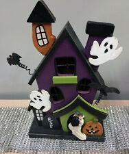 Haunted Halloween Wood House Purple or Black Wedding Cake Topper Groom top Funny