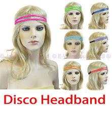 Disco Fluro 80s 80's Party Dance Costume Braided Plaited Hair Head Band Headband