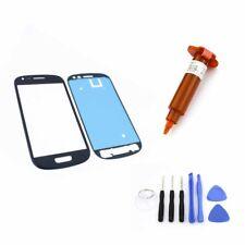 FRONTGLAS für SAMSUNG Galaxy S3 mini Blau Glas Display Touchscreen UV LOCA 5ml