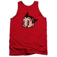 Astro Boy Face Mens Tank Top Shirt Red