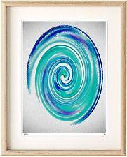 Modern Abstract Blue Green Swirl 2 Epson Print in Ikea, A3 Clipframe or print