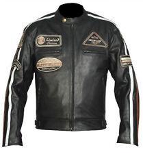 Hommes Moto Veste en Cuir Moto Racing Protection Veste.Veste En Cuir Pour Moto