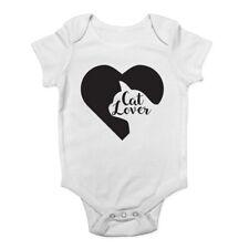Cat Lover Heart Cute Baby Vest Bodysuit