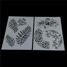 pochoirs de superposition de feuilles pour tampon scrapbooking peinture mur LC