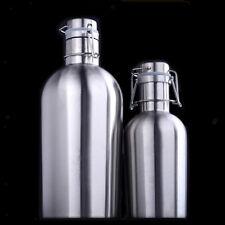 Premium Beer Growler Swing Top Hip Flask Botella Beer Bottle Secure Swing 1 L/2L