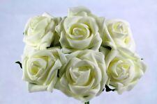 12 artificiale Schiuma Rose Cerimonia Fiori Tutti I Colori Per Bouquet o asole