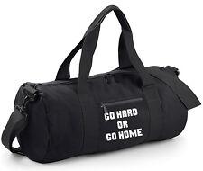 fb40ab19b9 Go Hard Or Home Duffle Bag - Gym Sports Yoga Spin Funny Slogan Barrel Quote  Gift