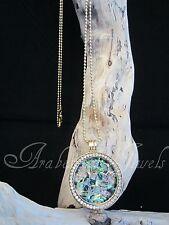 Genuine Paua Coin/Moneda Gold Ajmm Genuine Mi Sterlina Milano Necklace/Pendant.