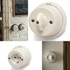 Interruttori e accessori porcellana bianca stile vintage x Impianti Elettrici
