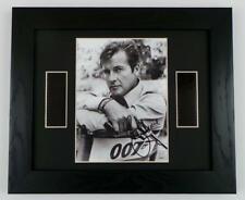 JAMES BOND ROGER MOORE Signed PREPRINT JAMES BOND FILM CELLS FRAMED 007 GIFTS