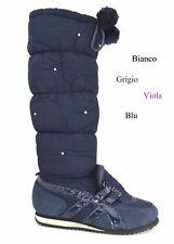 Stivali donna doposci caldi imbottiti scarpe bambina da neve scarponi invernali
