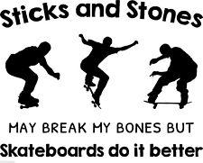 SKATEBOARDS DO IT BETTER vinyl wall art sticker words saying stunt fun deco DIY
