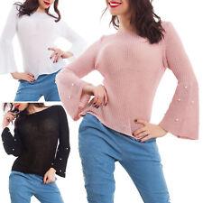 Maglia donna leggera tricot maniche campana primavera casual nuovo AS-6206