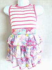 Girls Minoti Frill Jersey Summer Floral Dress 12-18 & 18-24 months